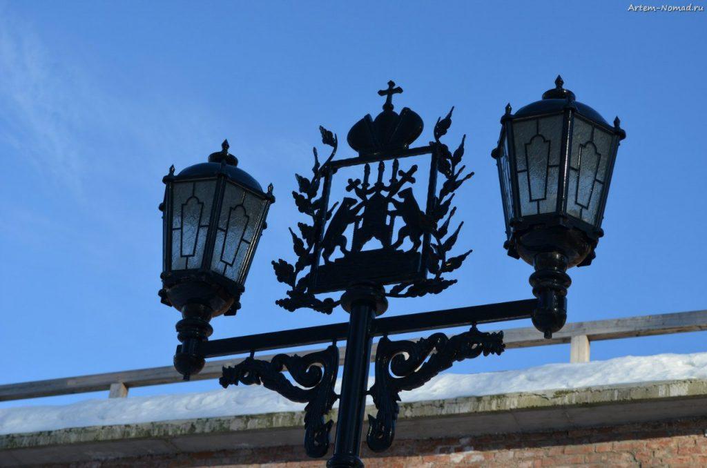 Гербовой фонарь Великого Новгорода